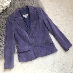 Tower Hill Jacket Suede Leather Purple Lavender